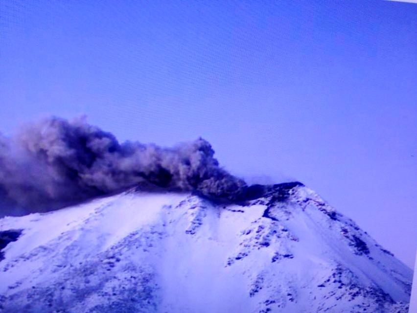 Nevados de Chillan - 04/19/2016 - intermittent emissions of ash - Sernageomin