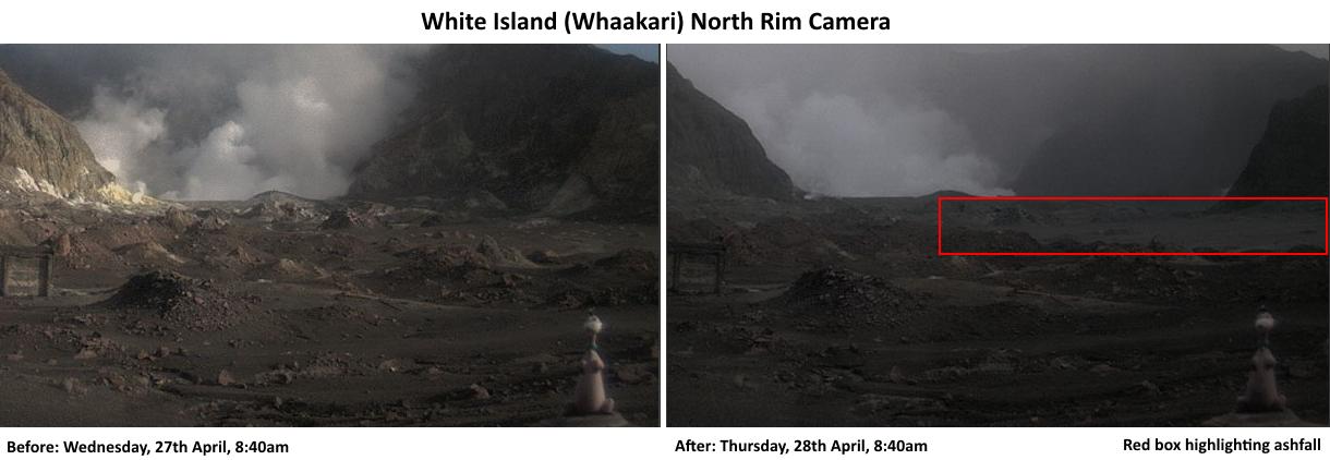 White Island 2016.04.28 8h40 - ashfall in the red box - doc. Dino of White Island