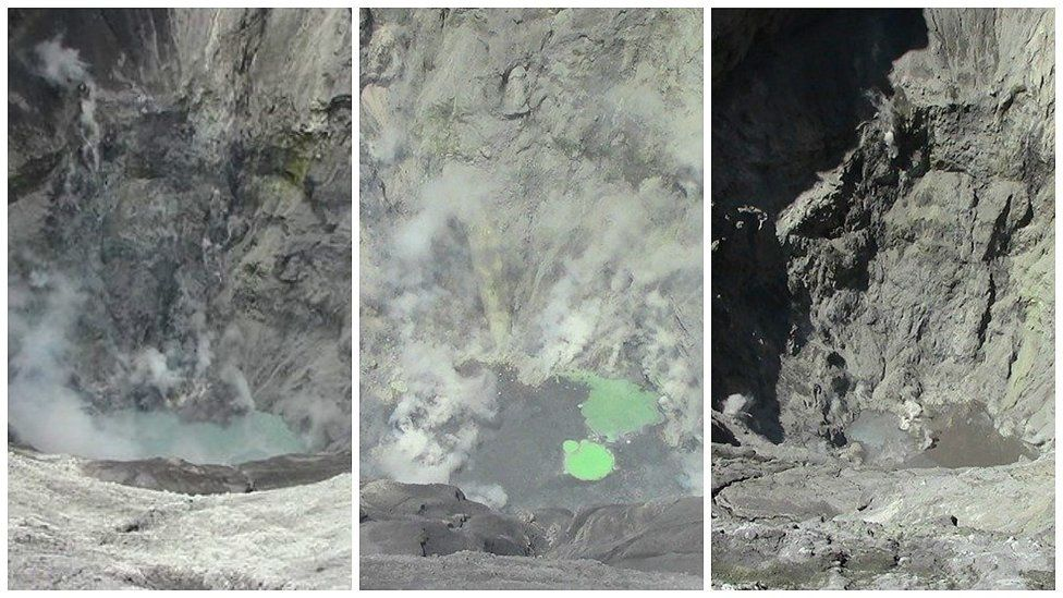 Peru - Ubinas: evolution of the crater lake between March and late April - pictures diario Correo Moquegua