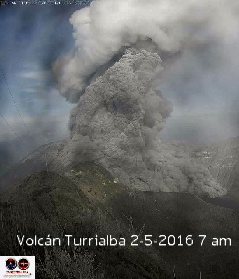 Turrialba - 02.05.2016 / 7h - photo Ovsicori
