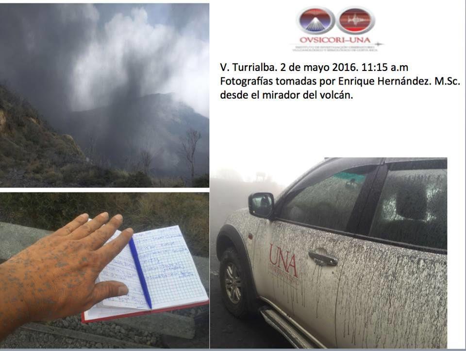 Turrialba 02.05.2016 / 11h15 - photo E.Hernadez depuis le mirador du volcan / via Ovsicori