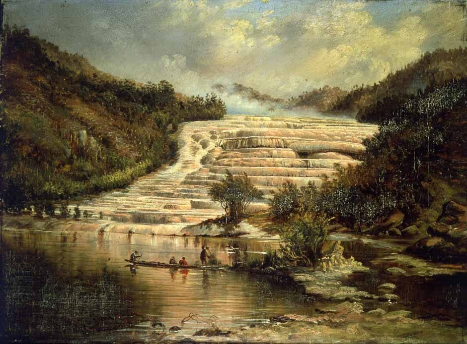 Charles Blomfield - 1890 - Pink Terraces of Otukapuarangi - doc. nz museums