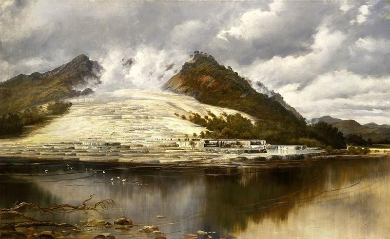 Charles Blomfield - 1897 - Rotomahana - White terraces - doc. nz museums