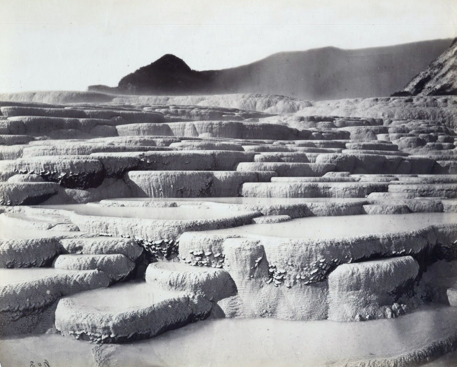 White terraces ... before the destruction - photo NZ holiday homes