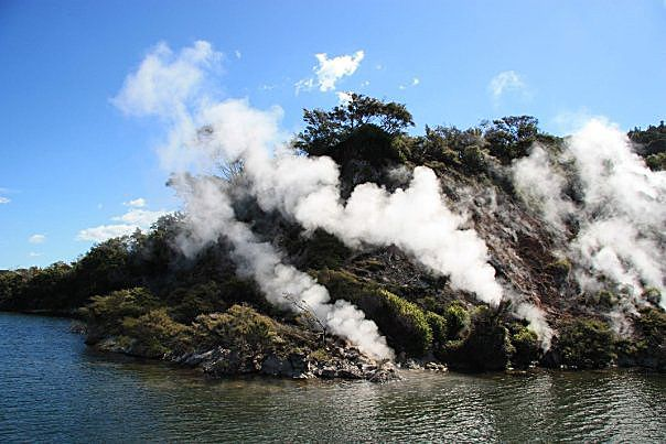 Waimangu - active fumaroles in the  geothermal area - photo Antony Van Eeten