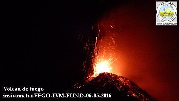 Fuego - 06/05/2016 - Photos INSIVUMEH