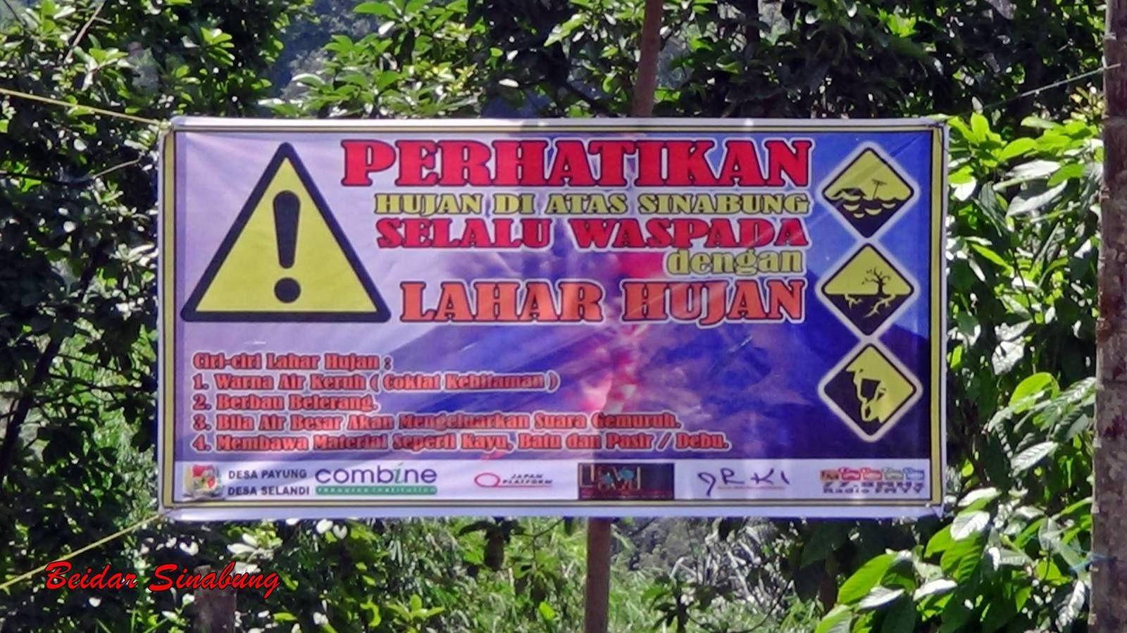 Risques de lahars au sinabung - 09.05.2016 - photos Beidar Sinabung /  Sandri Sukatendel