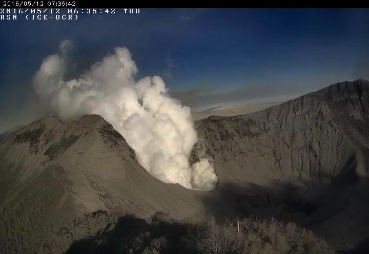Turrialba - 12.05.2016 / 6h35 - Webcam RSN