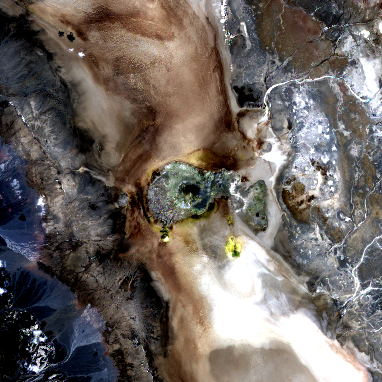 Le site de Dallol, vu par le satellite Aster