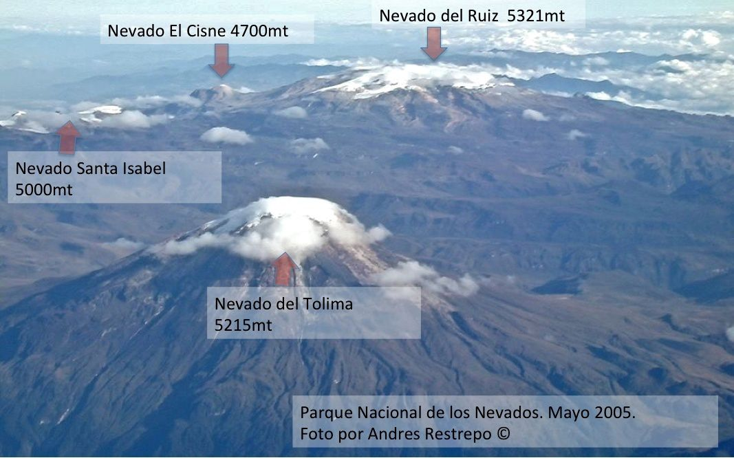 Parque Nacional Los Nevados and volcanoes - photo Andres Restrepo