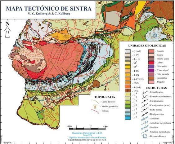 Sintra tectonic map - Doc. Kullberg MC & JC