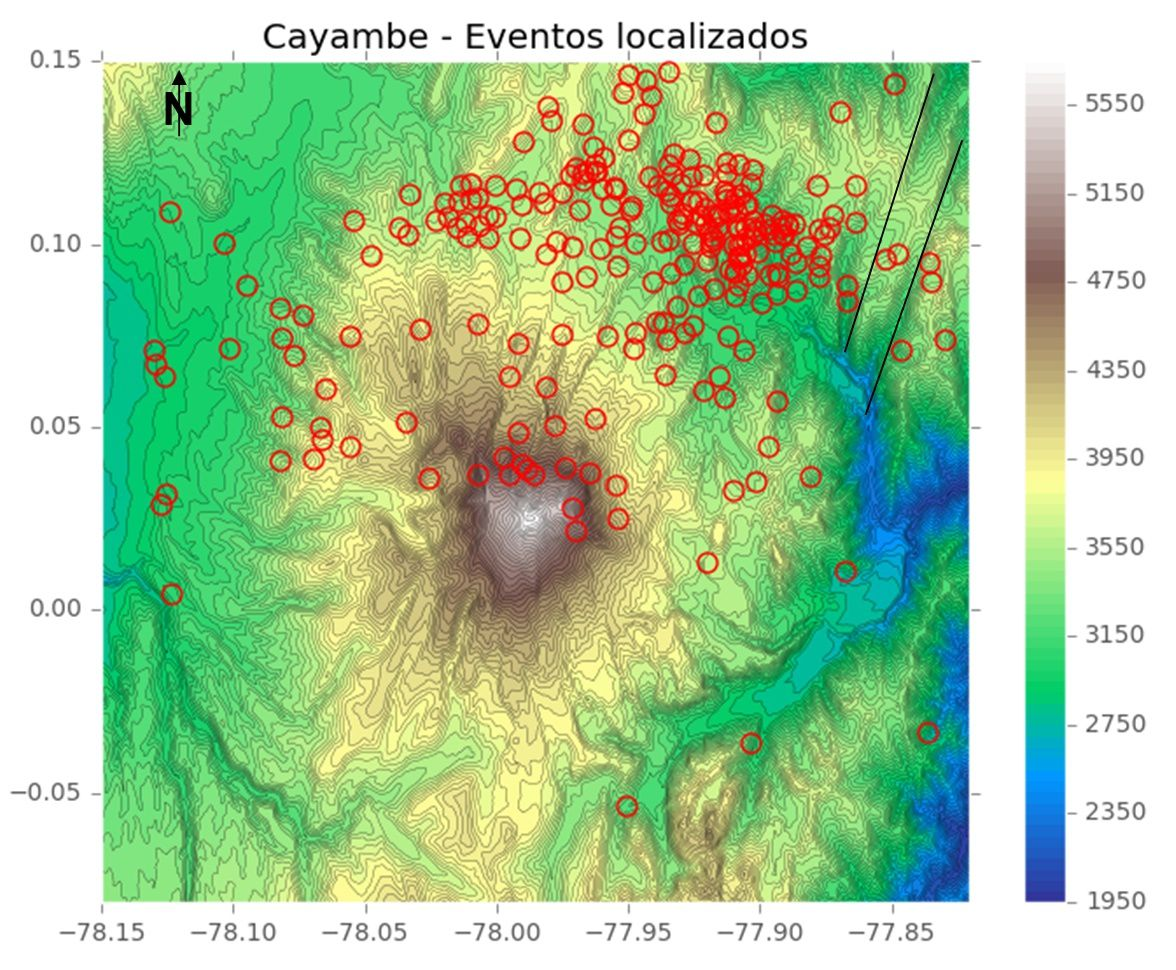 2016.06.22 Cayambe - Total number of earthquakes by categories between 1 januari and June 2016, and location of the last earthquakes - doc IGEPN