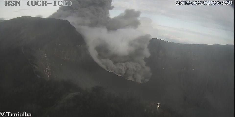 Turrialba - le 26.06.2016 / 06h04 - webcam RSN