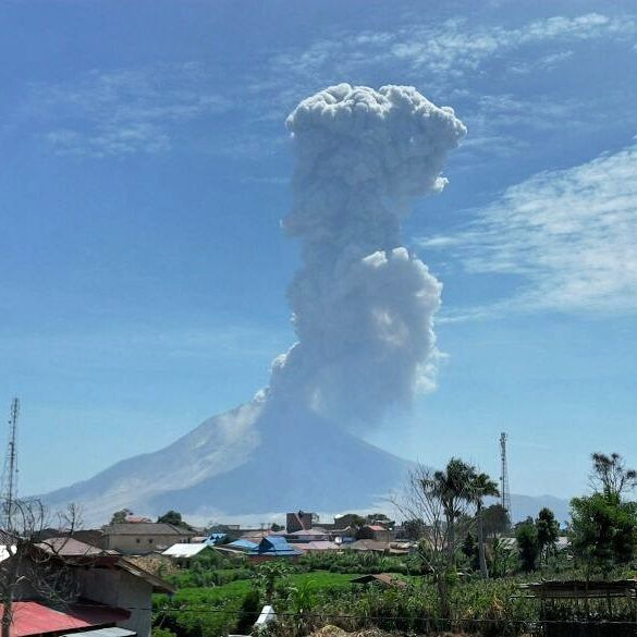 Sinabung - 01.06.2016 / 1:05 p.m. - photo PVMBG