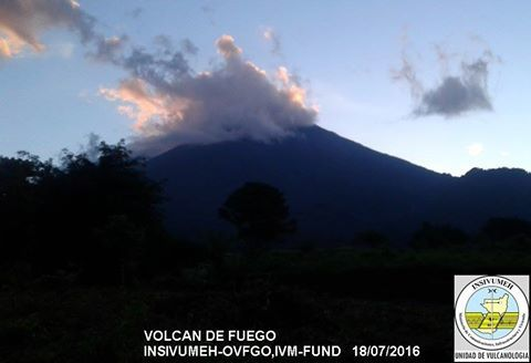 Fuego 18.07.2016 - photo Insivumeh