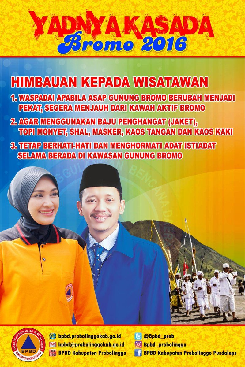 Bromo - recommendations of the BPBD regarding the Kasada celebration