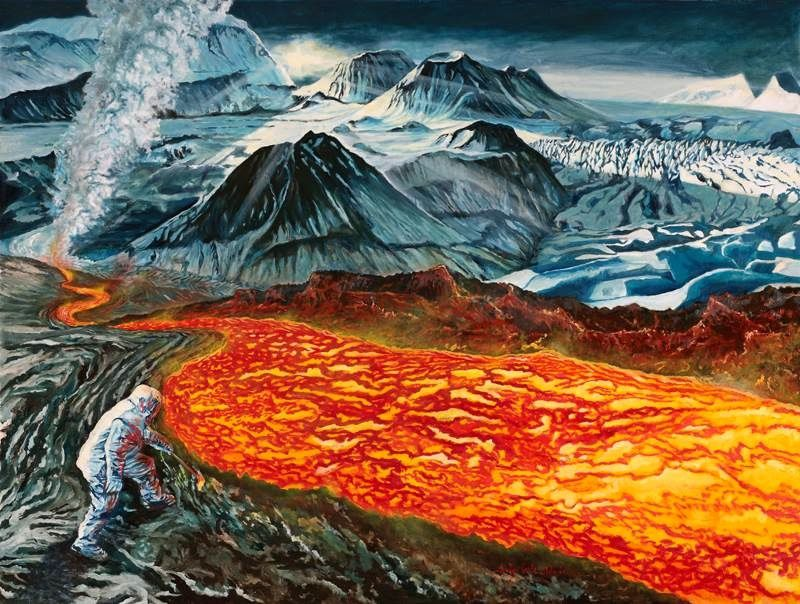"""Clash of the Titans in Iceland"" - Artwork and Photo © Jocelyn Lardy"