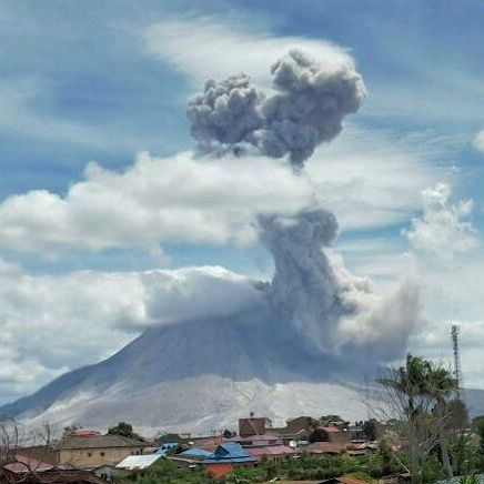 Sinabung - explosion du 07.08.2016 / 12h49 - photo PVMBG