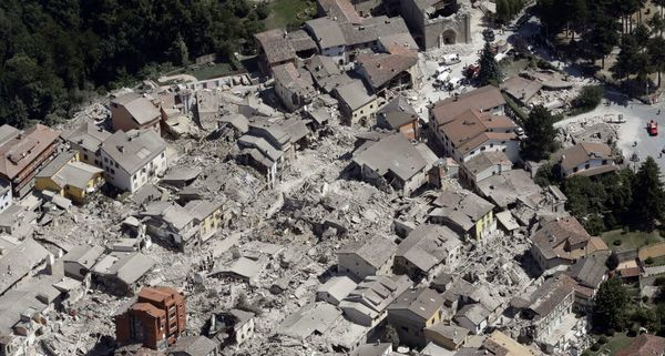 The city of Amatrice destroyed by the earthquake of 24/08/2016 - photo USA Today