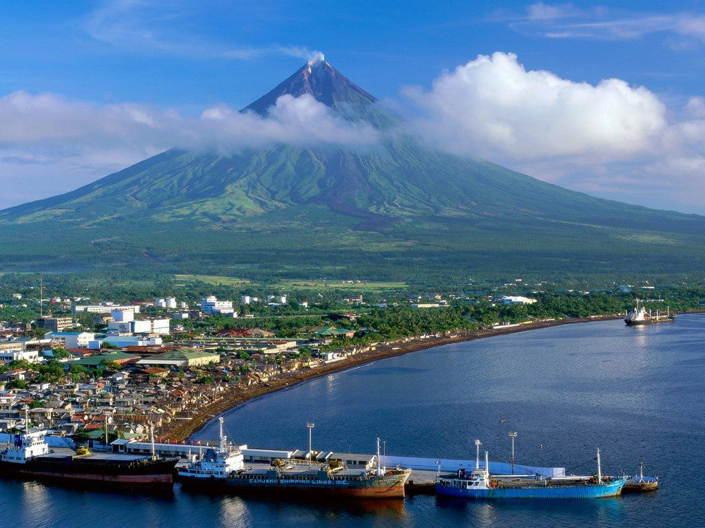 Le cône symétrique du Mayon - photo Wallpaper