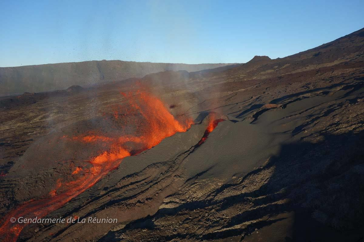 Piton de La Fournaise - 11.09.2016 - photo Gendarmerie de La Réunion