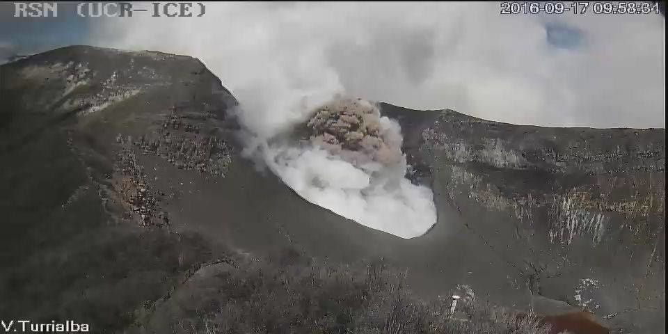 Turrialba - 17.09.2016 / 9h58-9h59 - Webcam RSN