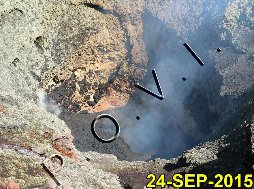 Villarica - Lava Lake and the emission of ashes 24.09.2016 / 19:48 - pictures P.O.V.I.