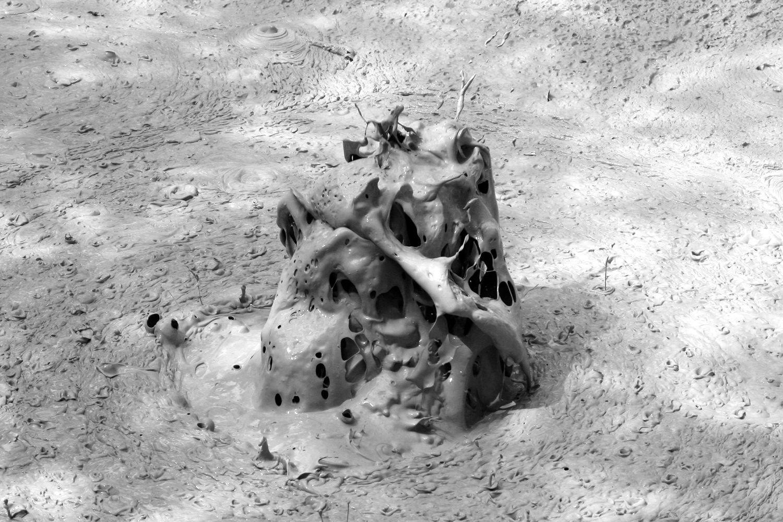 Sur les pentes du Rincon de La Viaja - Pillas de barro, explosion d'une bulle de boue -  photo © Bernard Duyck