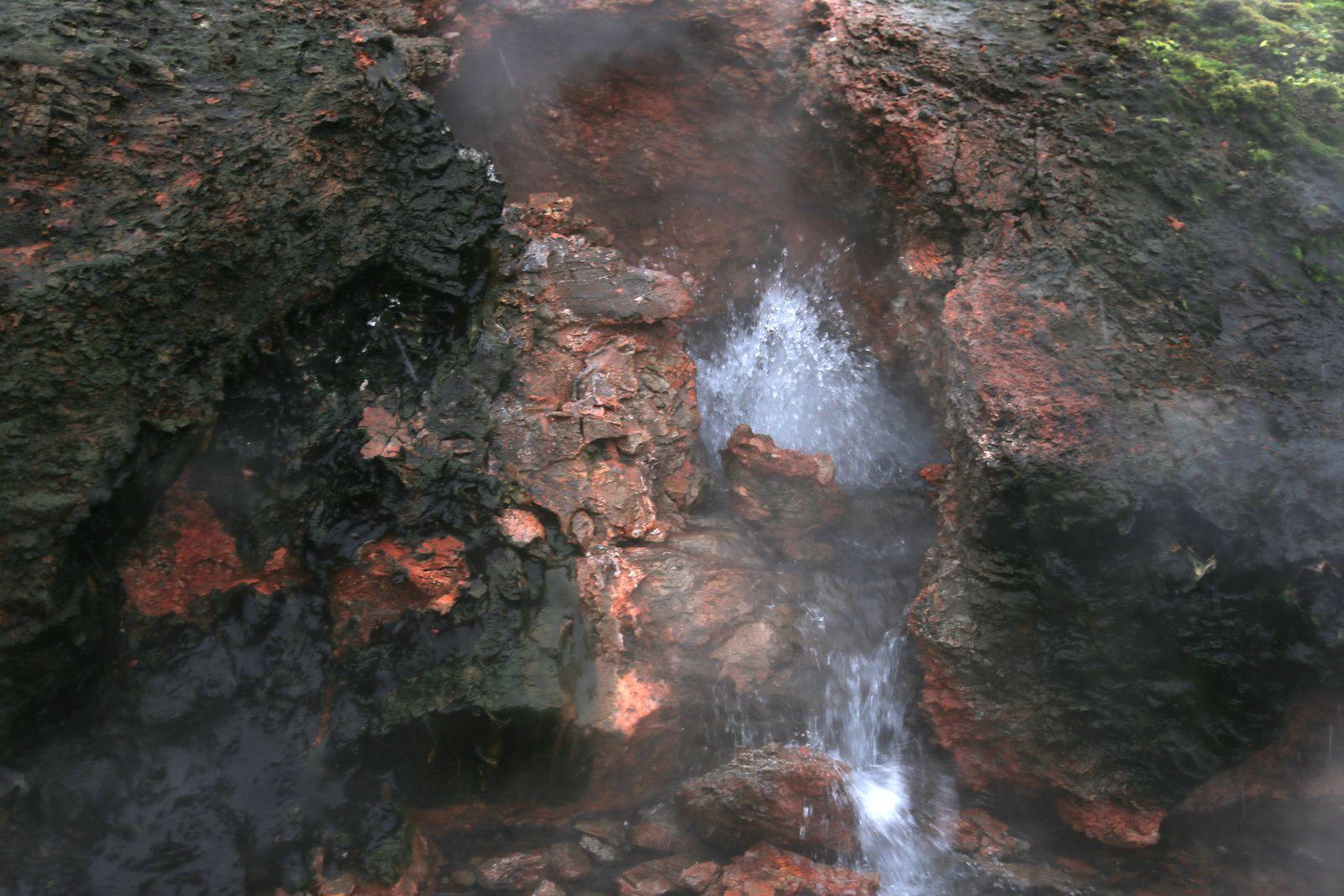 Deildartunguhver, one of the hot springs and its runoff  - photo © Bernard Duyck 10.2016