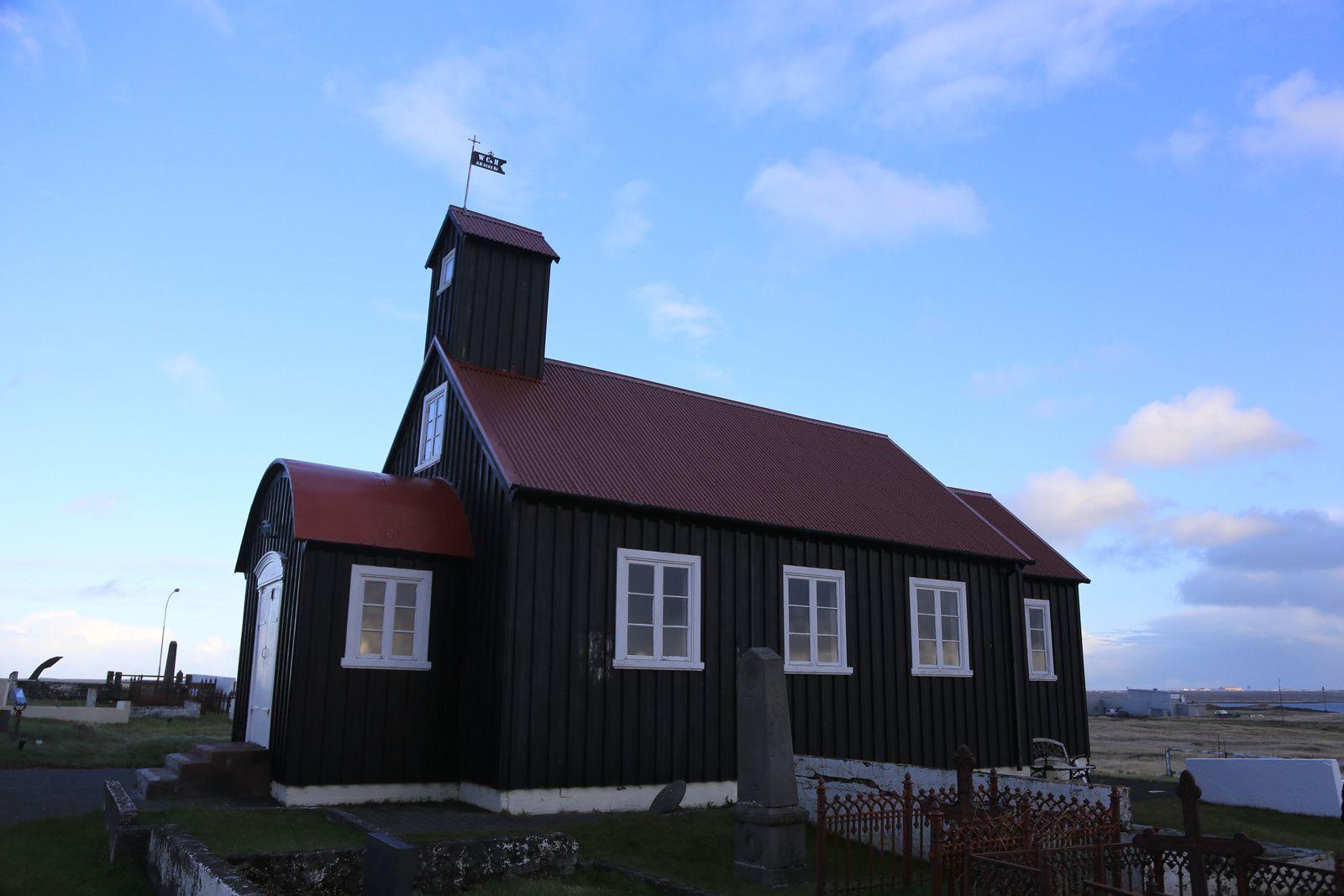Kirkjuvogskirkja, ancienne église d'Hafnir - photo © Bernard Duyck 10.2016