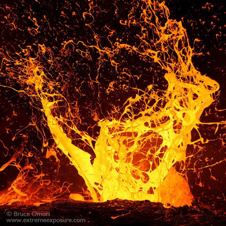 Lava in Hawaii - photo Bruce Omori / Extreme exposure