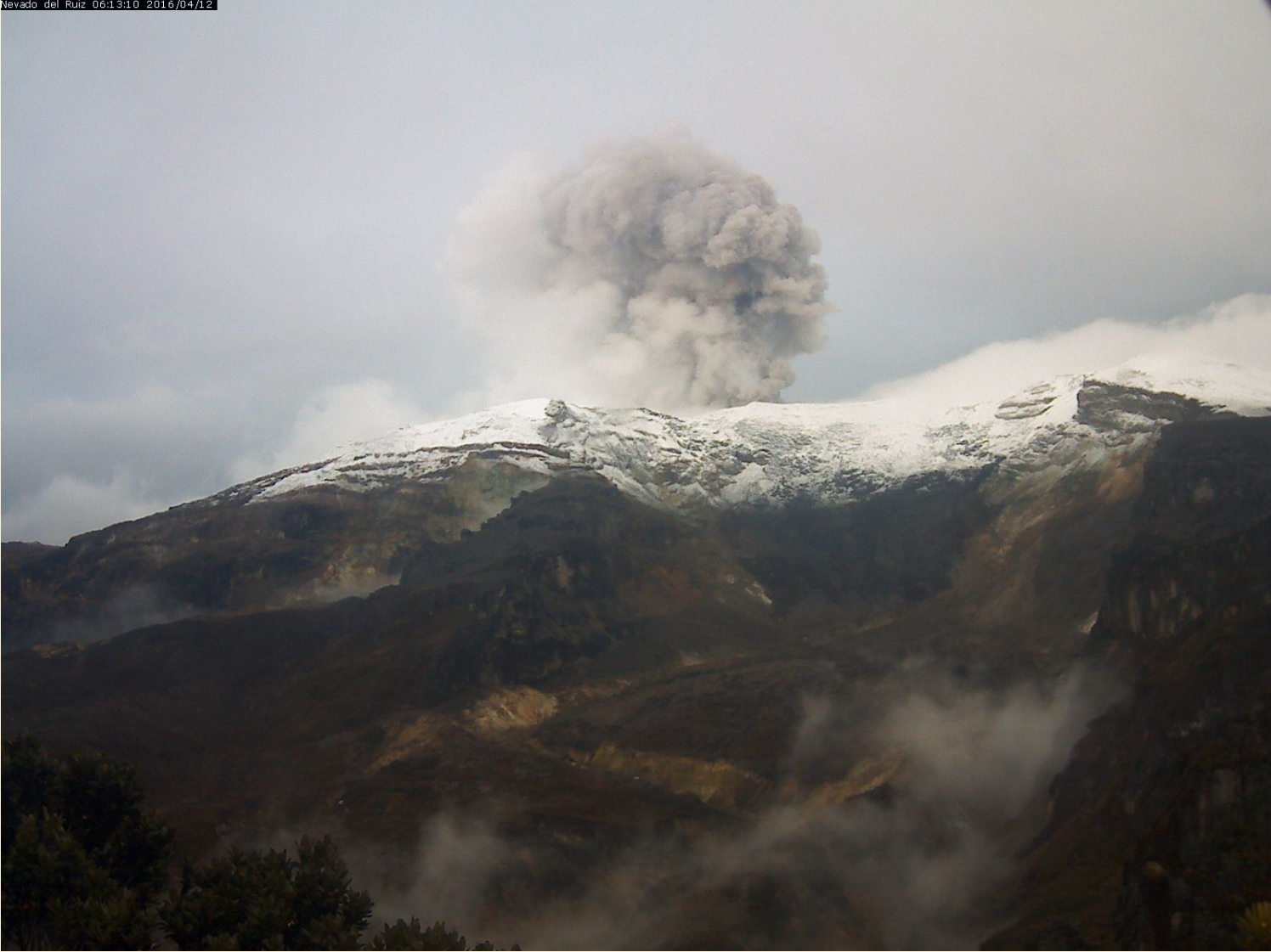 Nevado del Ruiz - image archives SGC 2016.04.12
