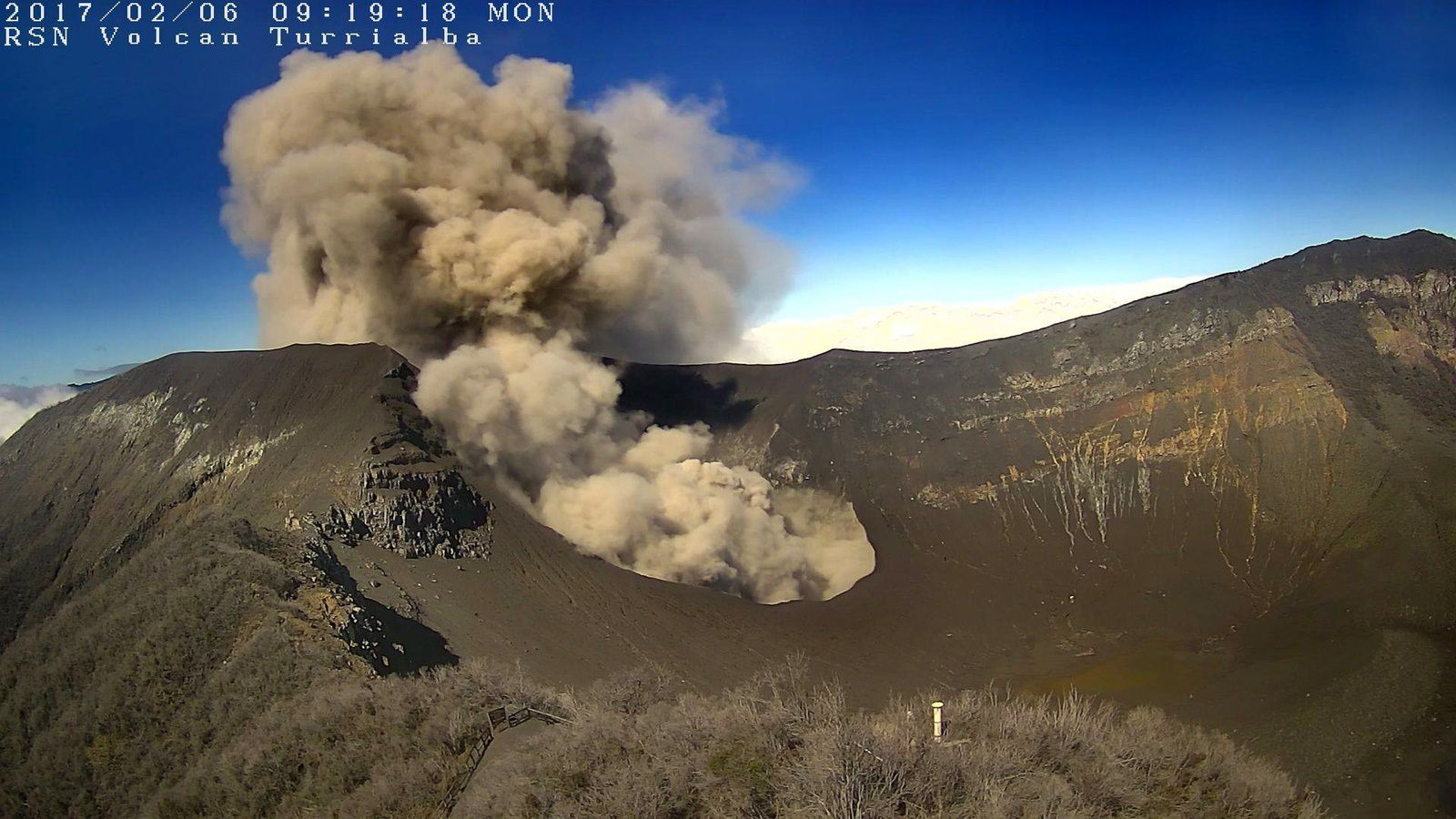 Turrialba - 06.02.2017 / 9h19 - webcam RSN