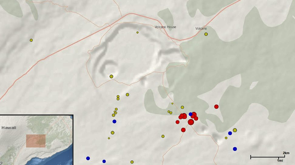 Kilauea - essaim sismique du 05.03.2017 - Doc. Big Island vidéo