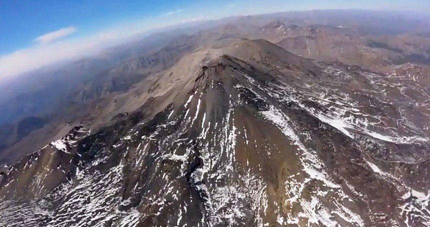 Nevados of Chillan - fly over the 25.03.2017 - photo Sernageomin