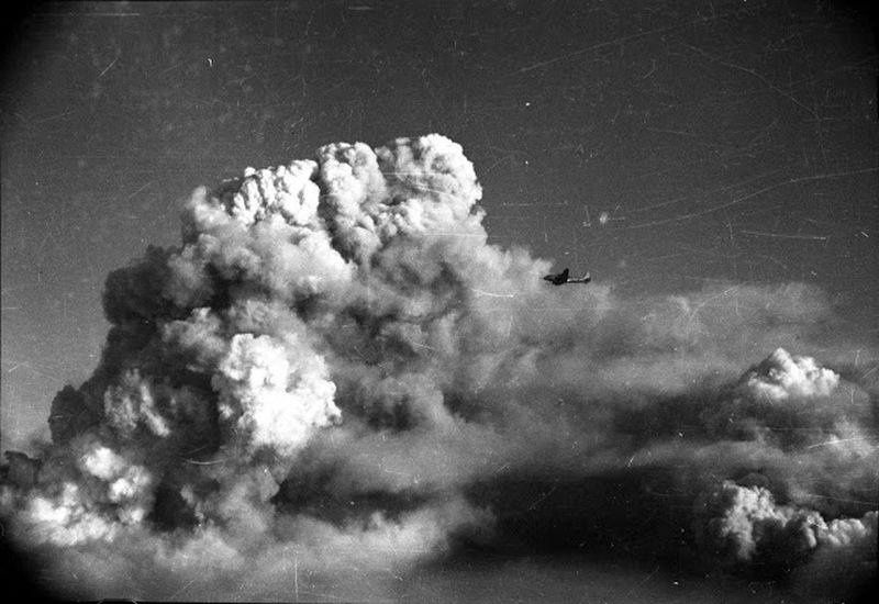 The eruption of the Hekla in 1947 - Photo Sveinbjörn Þórhallsson.