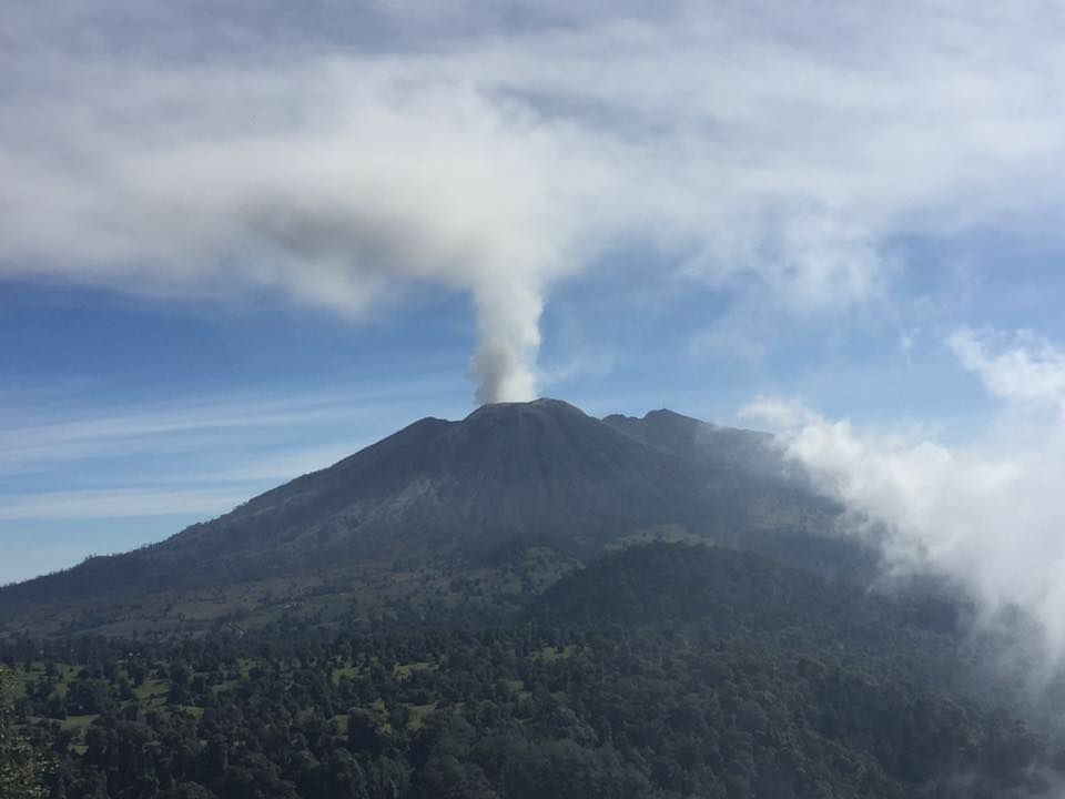 Turrialba (the White Tower) gas plume, vertical, 30.03.2017 - photo Javier Pacheco / Ovsicori