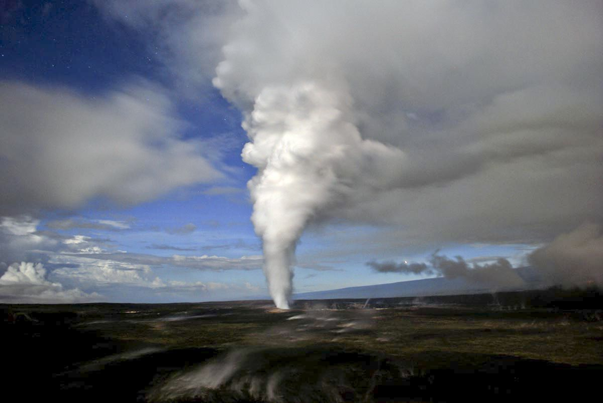 Hawaii VOG - Photograph by M. Poland, November 13, 2008, USGS HVO.