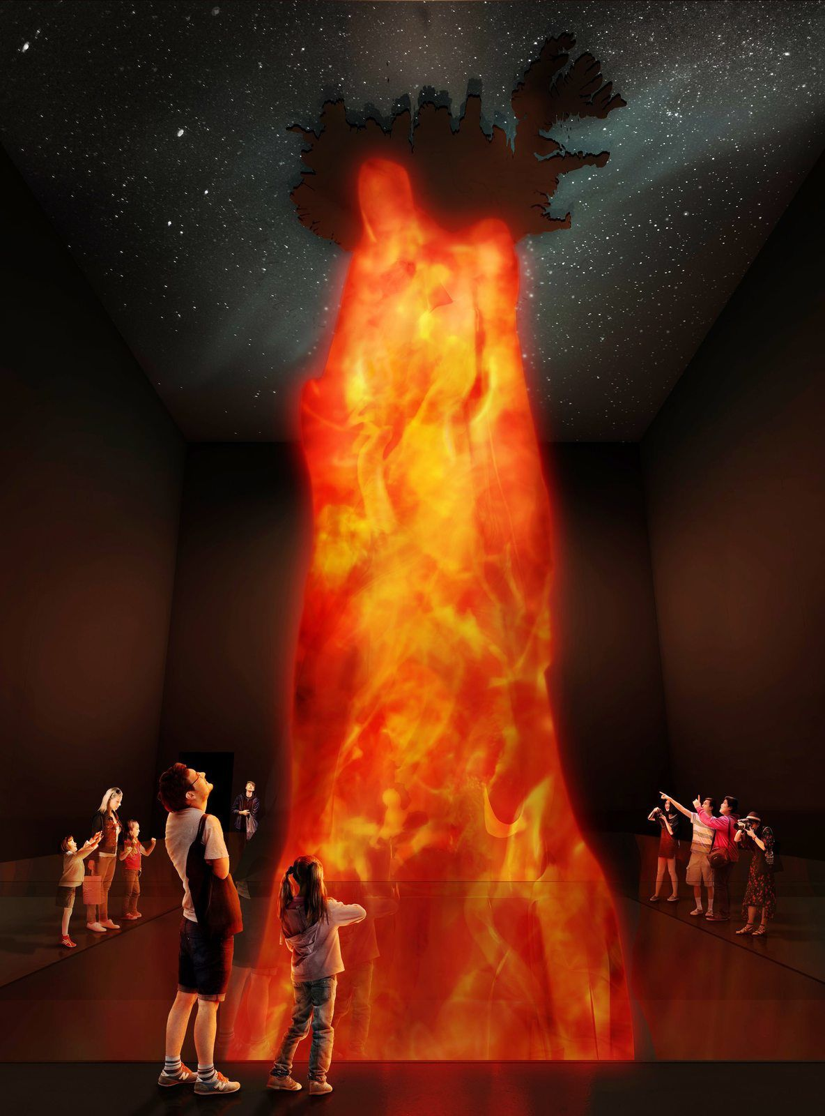 Image of the Icelandic mantle plume in the new museum - doc. Iceland Mag