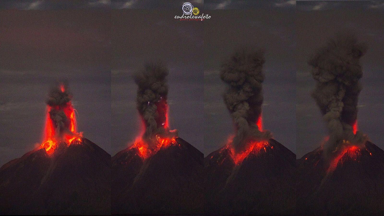 Strombolian activity in Sinabung on 31.05.2017 - photos Endro Lewa
