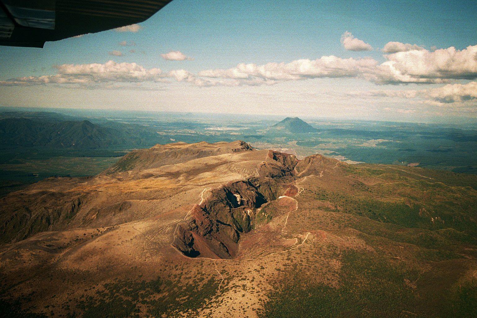 La fissure éruptive du Tarawera - photo C.Lindberg