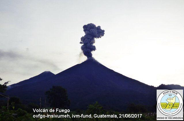 Fuego - 21.06.2017 - photo Insivumeh