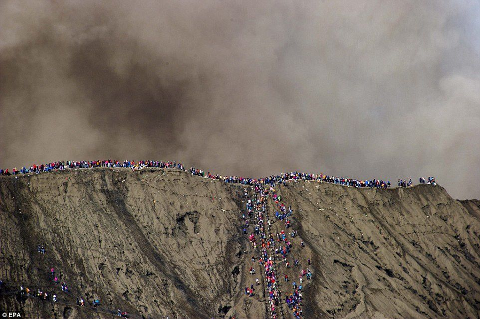The affluence can reach highs at the Bromo during these festivities - EPA archives - Fully Handoko - Daily Mail