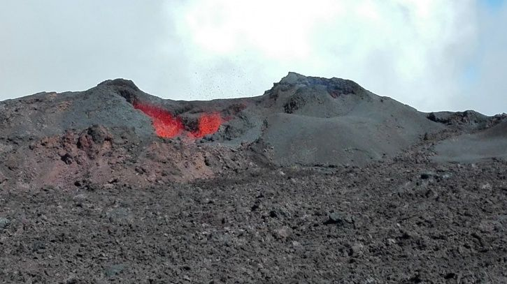 Piton de La Fournaise - the eruptive site on July 19, 2017, 11h27 (local time). - (© OVPF / IPGP)