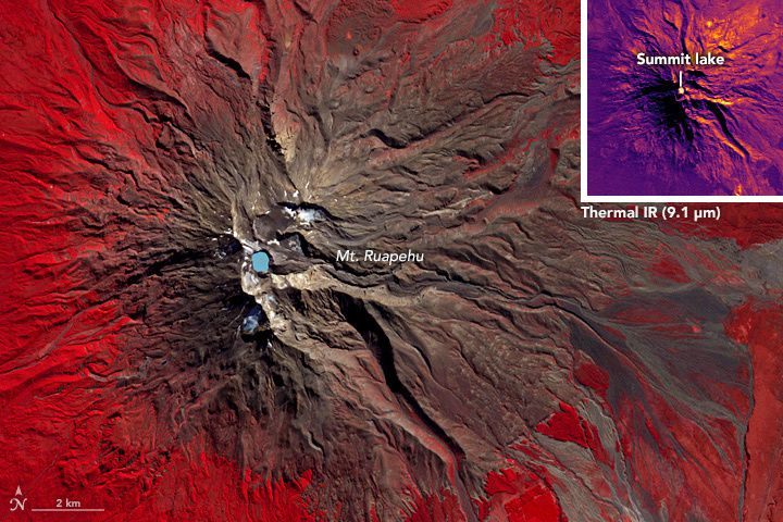 The Ruapehu - picture Nasa Terra Aster 20.04.2016
