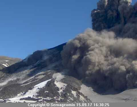 Complex Nevados de Chillan, volcano Nuevo - 15.09.2017 / 16h30 - photo Sernageomin
