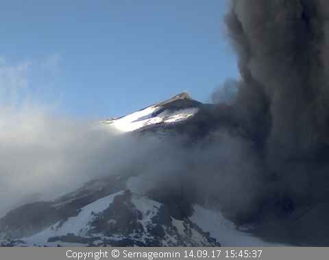 Complex Nevados de Chillan, volcano Nuevo - 14.09.2017 / 15h45 - photo Sernageomin