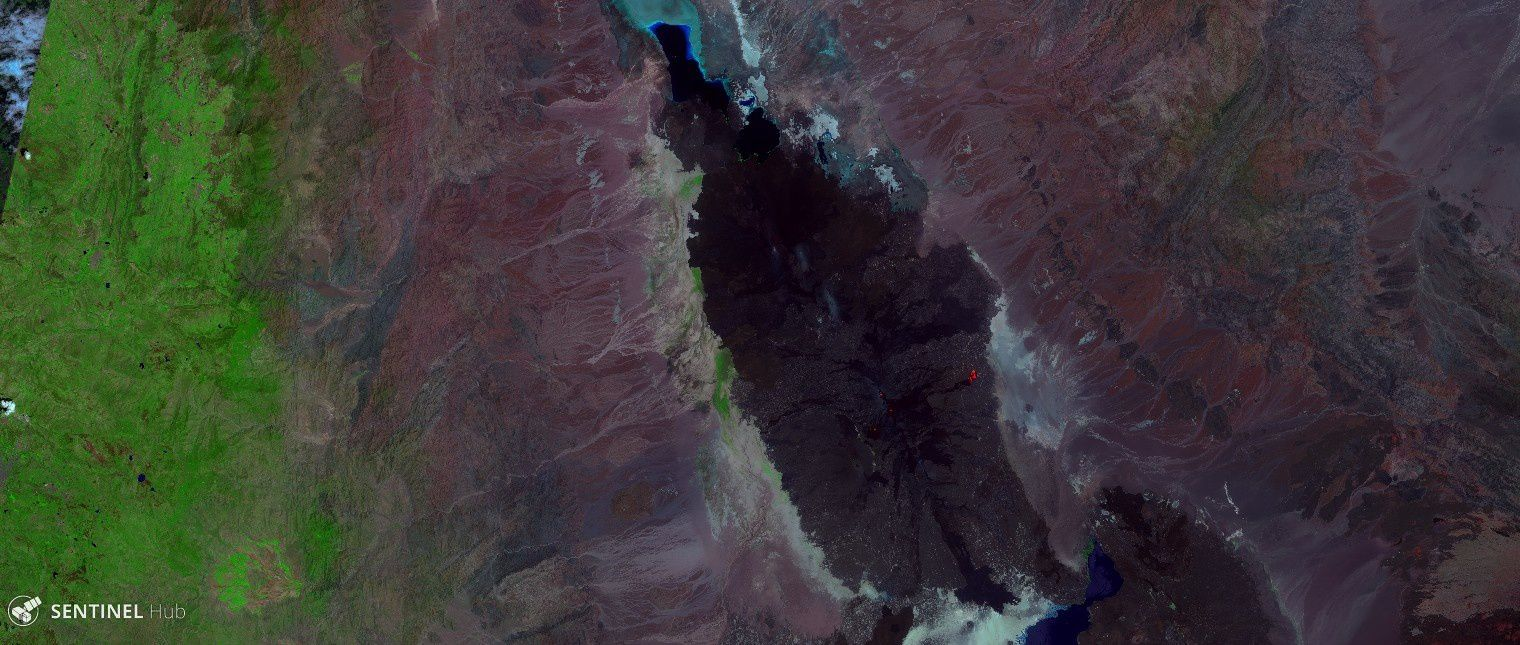 Massif of Erta Ale on 24.09.2017 - image Sentinel SWIR