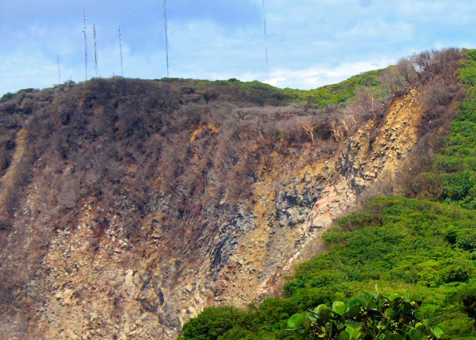 Mombacho - burned vegetation in one of the scars of collapse - Geografia de Nicaragua photo