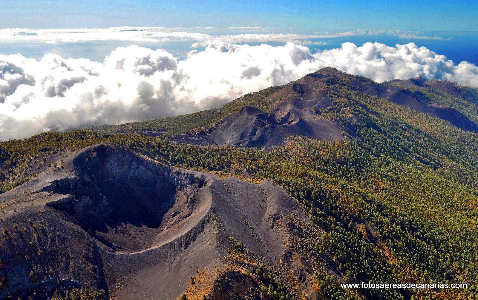 La Palma - The volcanic chain of the Cumbre Vieja - Fotoaereasdecanarias